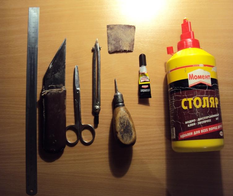инструменты для работы по бересте