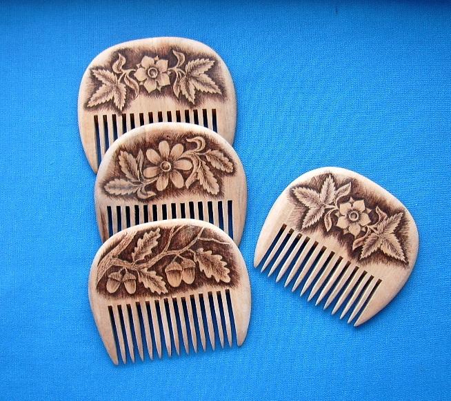 деревянный гребень для волос