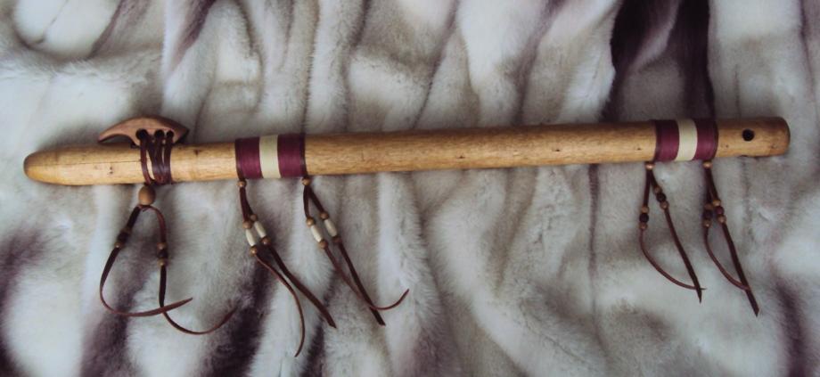 индейская флейта пимак из дерева