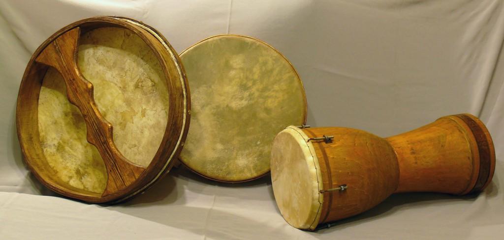 деревянные этнические барабаны и бубны Валерия Дьяченко