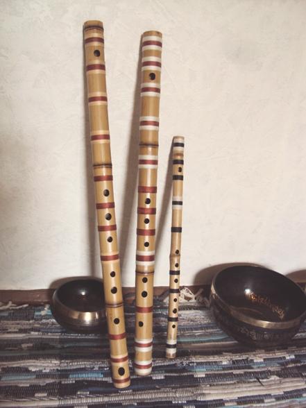 поперечная флейта бансури в До мажоре
